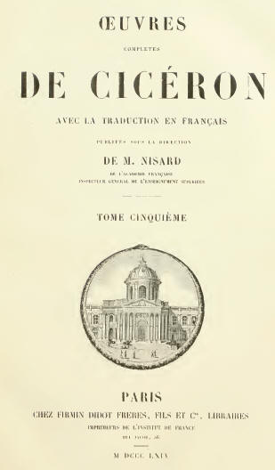 Cicéron, Correspondance