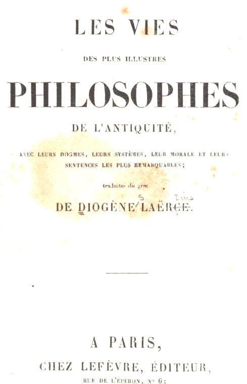 Diogène Laërce