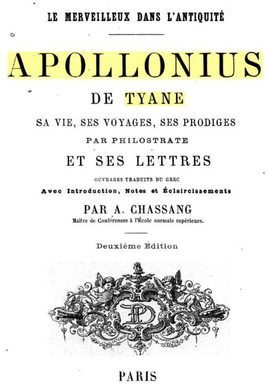 Philostrate Apollonius De Tyane